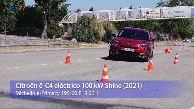Citroën e-C4 test alce