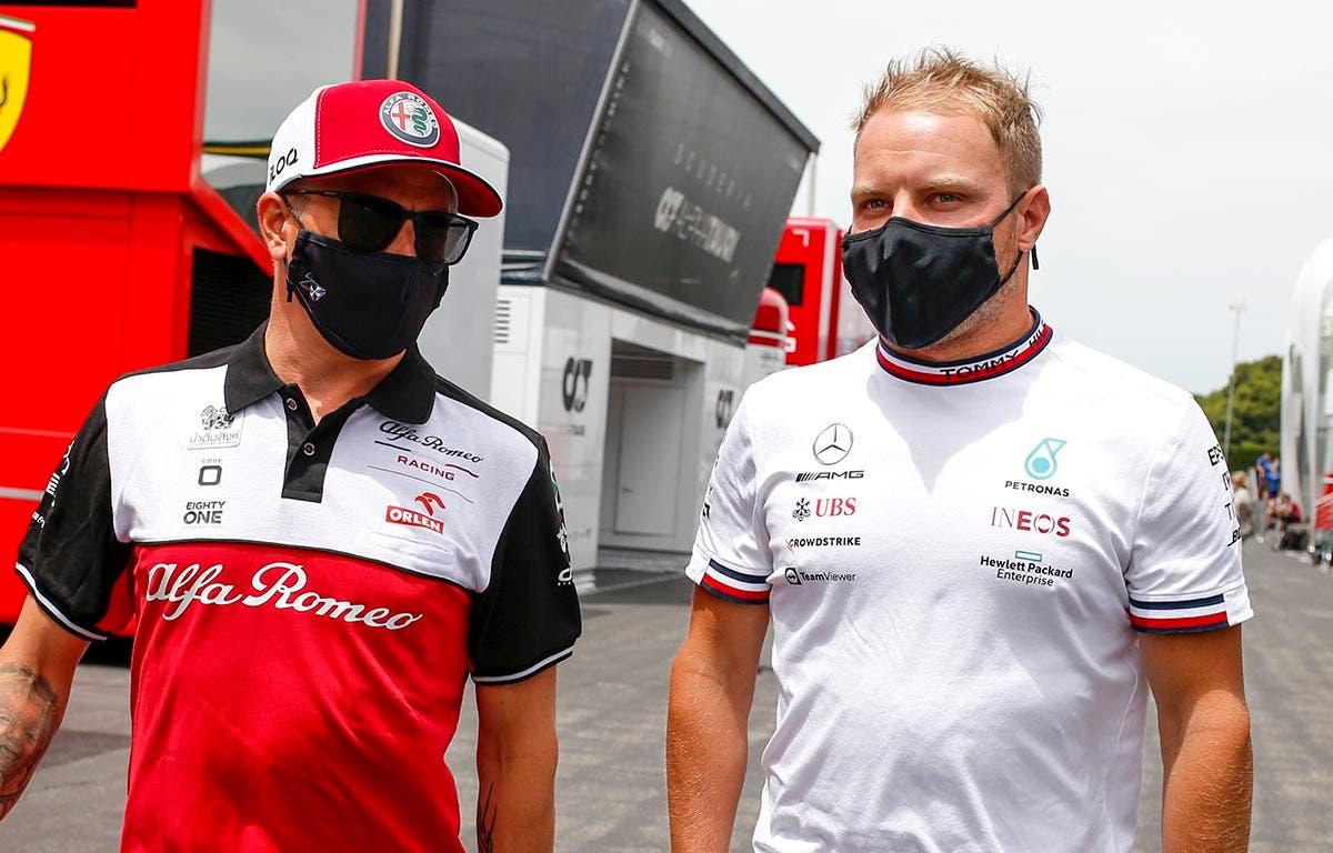 Kimi Raikkonen con Valtteri Bottas