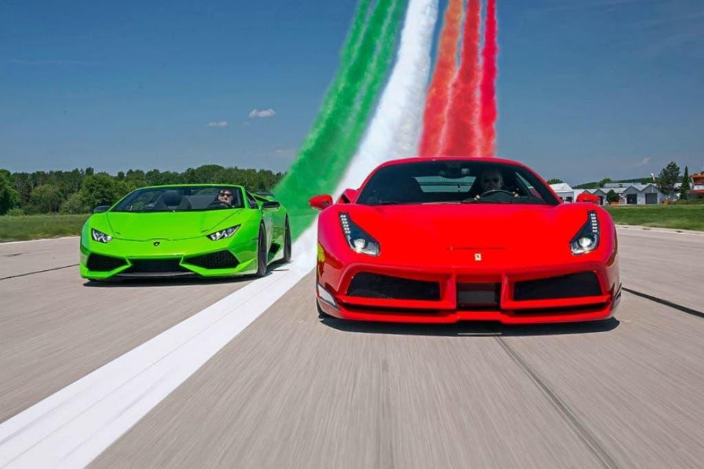 Lamborghini Ferrari rivalità