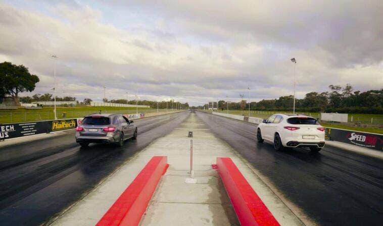 Drag Race Alfa Romeo Mercedes