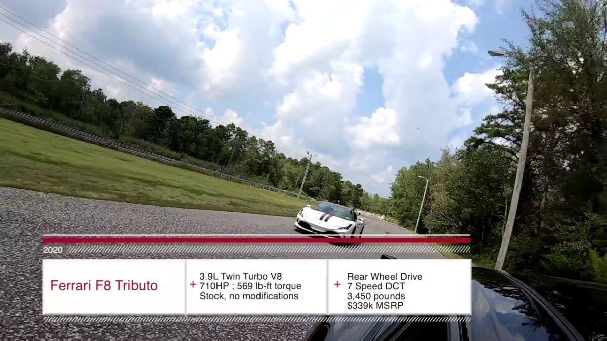 Ferrari F8 Tributo vs Porsche 911 Turbo S modificata drag race