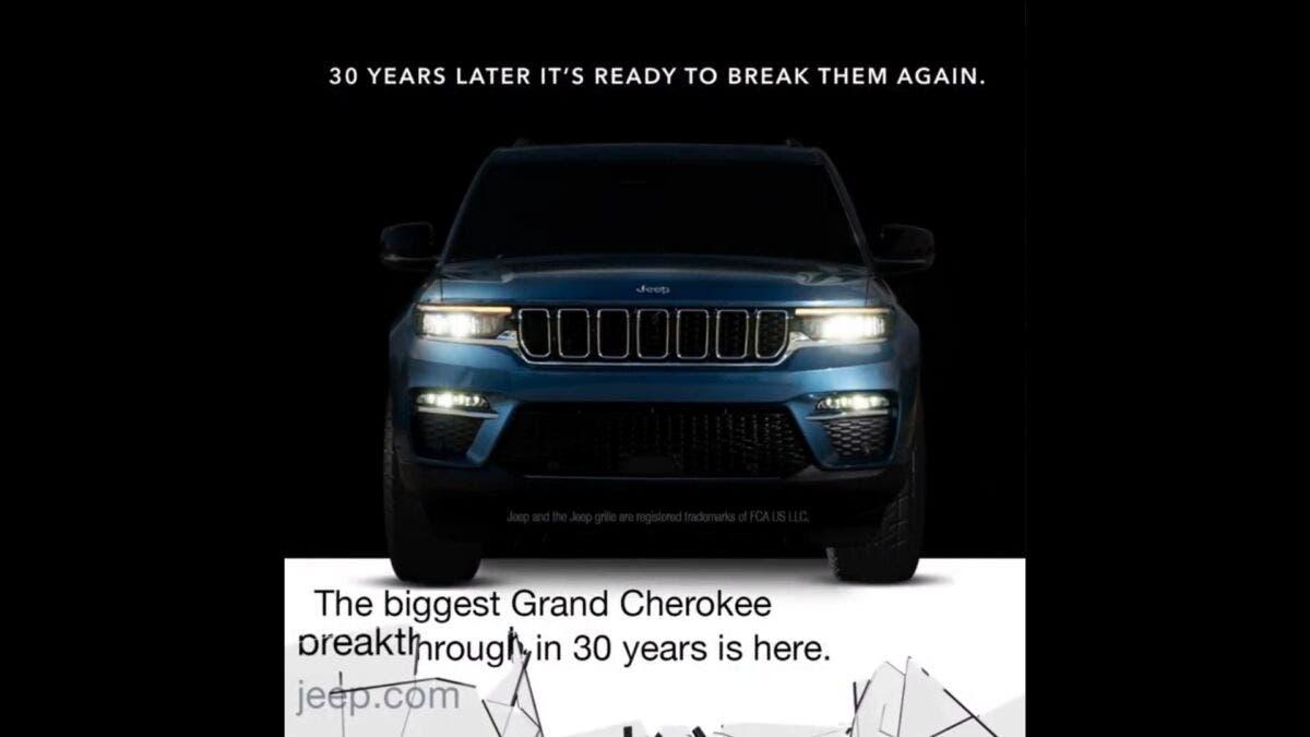Jeep Grand Cherokee 2022 teaser presentazione