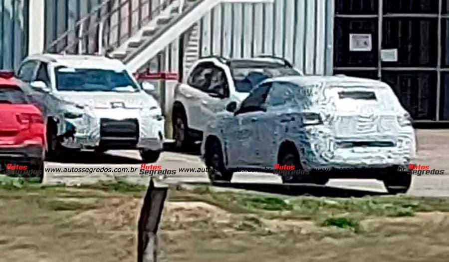 Nuova Citroën C3 Aircross prototipi foto spia