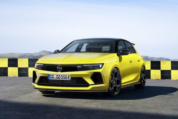 Nuova Opel Astra OPC render