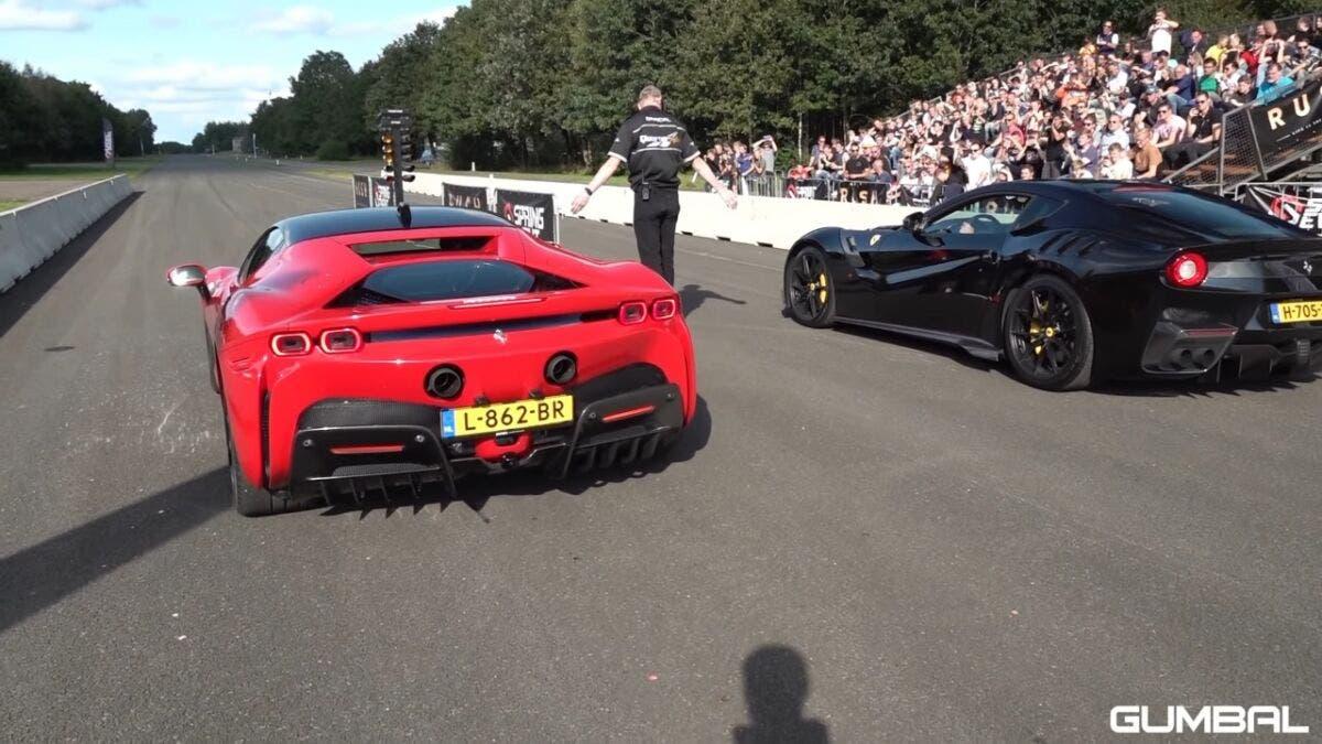 Ferrari SF90 Stradale vs F12tdf vs Mercedes-AMG G 63 drag race