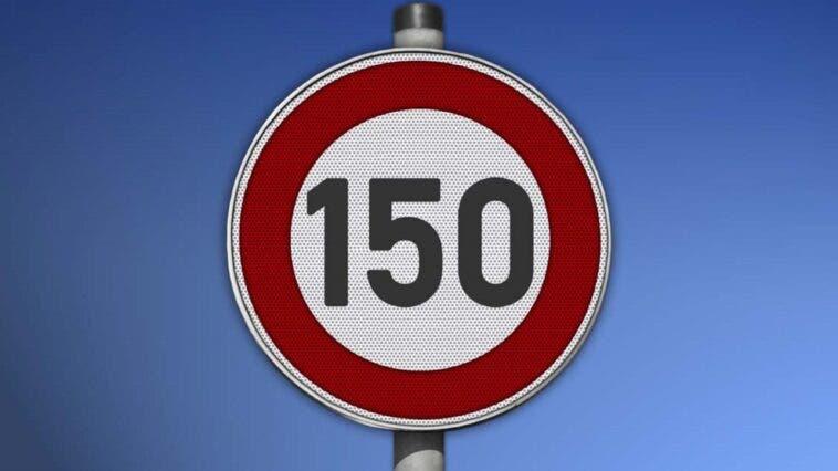 Limite di velocità di 150 kmh in autostrada